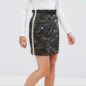 ASOS petite high waisted Camo mini skirt